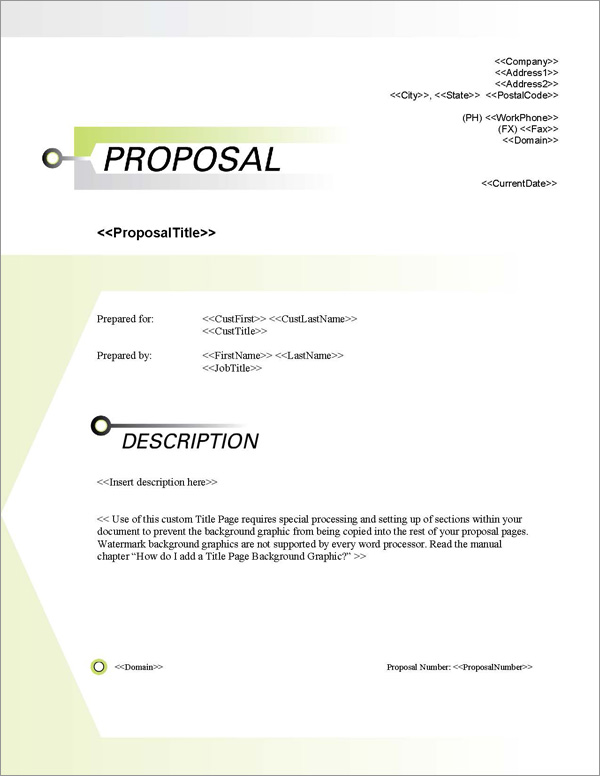 Proposal Pack Contemporary #15 Title Page