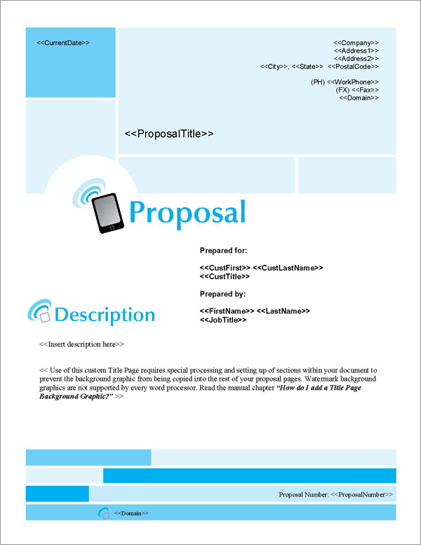 Proposal Pack Wireless #3 Title Page