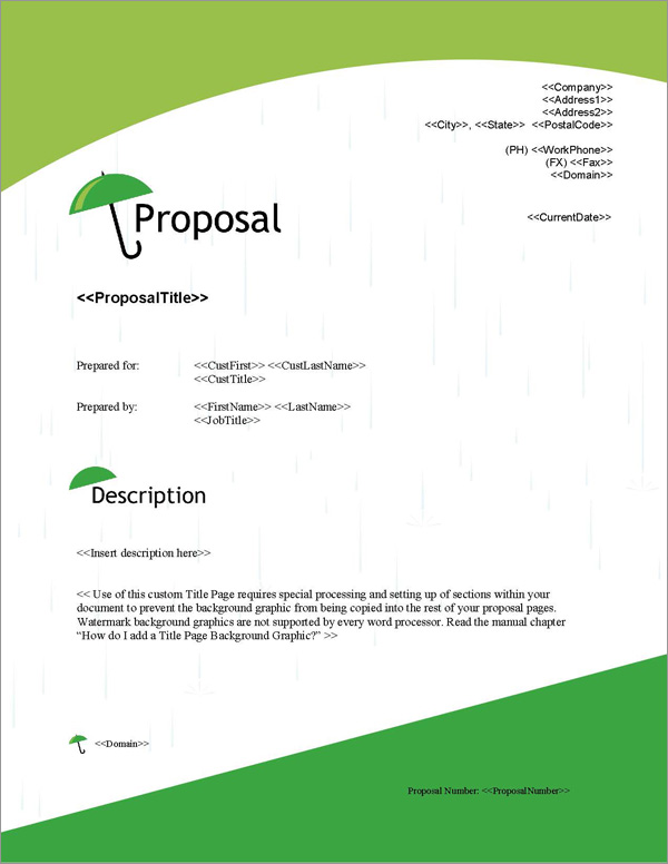 Proposal Pack Security #5 Title Page