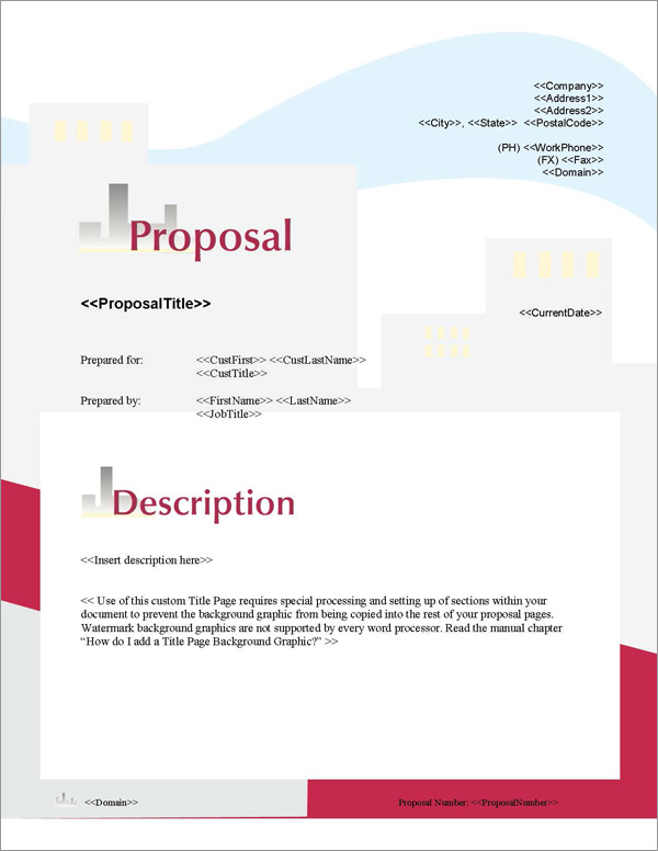 Proposal Pack Skyline #1 Title Page