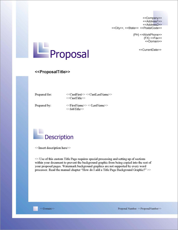 Proposal Pack Business #8 Title Page