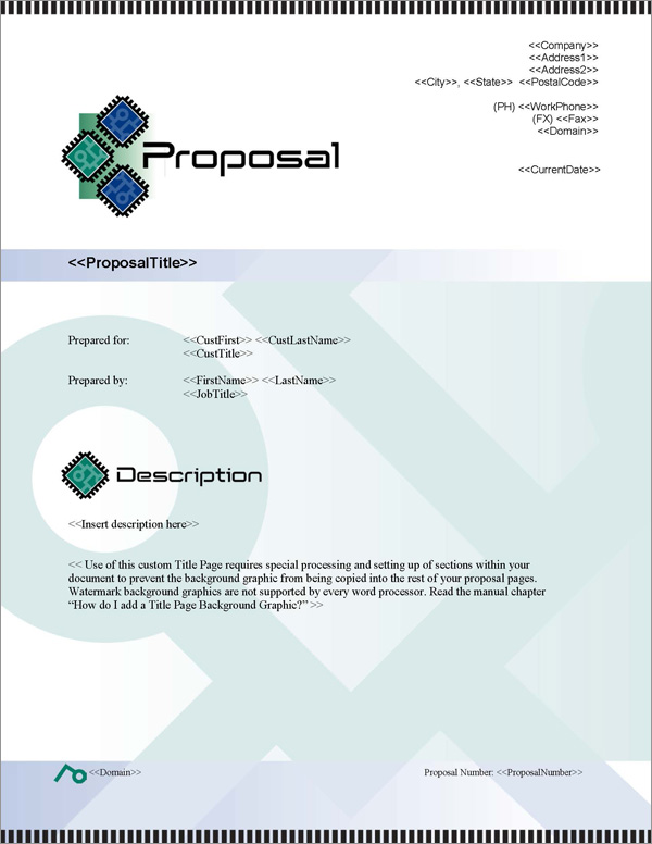 Proposal Pack Tech #3 Title Page