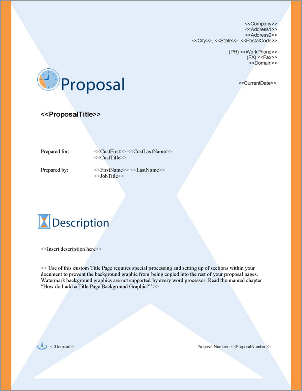 Proposal Pack Concepts #3 Title Page