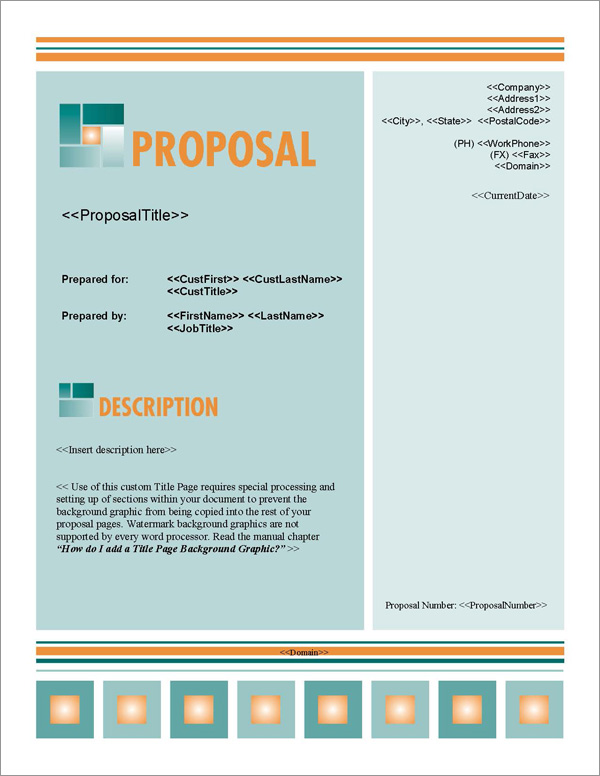Proposal Pack Business #9 Title Page