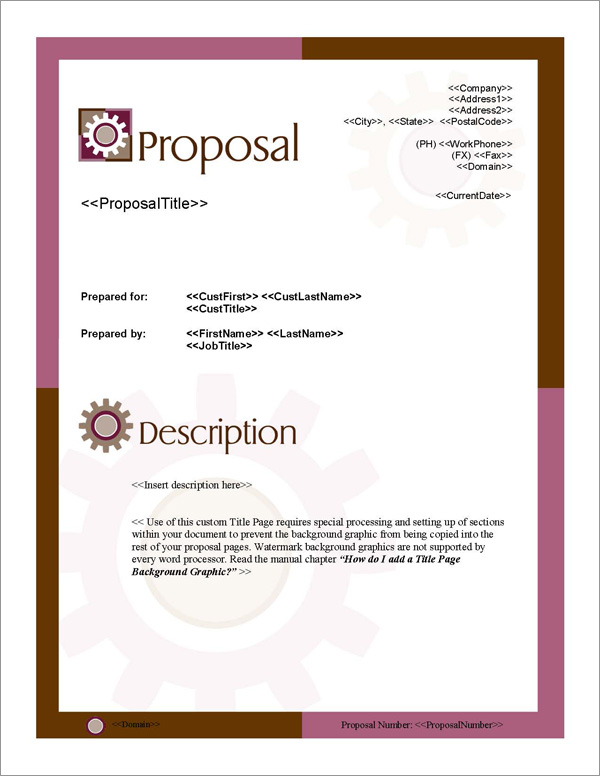 Proposal Pack Concepts #4 Title Page
