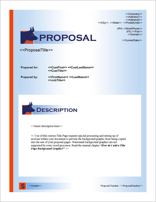Proposal Pack Financial #2 Title Page