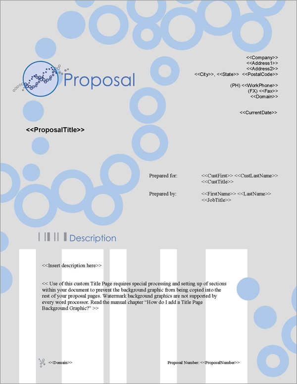 Proposal Pack Medical #3 Title Page