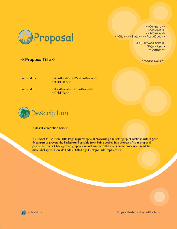 Proposal Pack Travel #1 Title Page