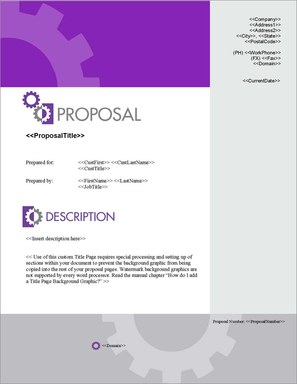 Proposal Pack Concepts #5 Title Page