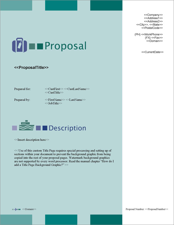 Proposal Pack Travel #2 Title Page