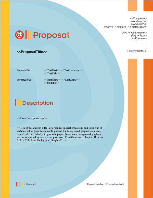 Proposal Pack Symbols #1 Title Page