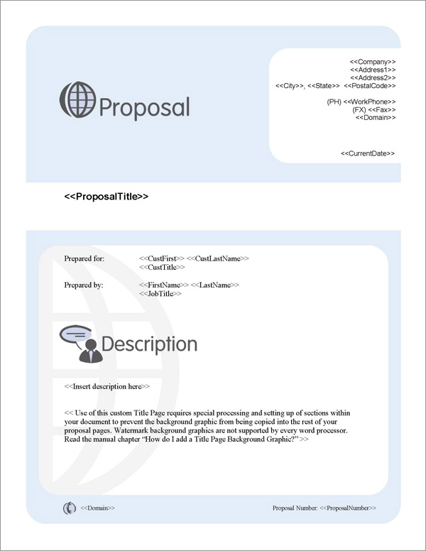 Proposal Pack Communication #2 Title Page