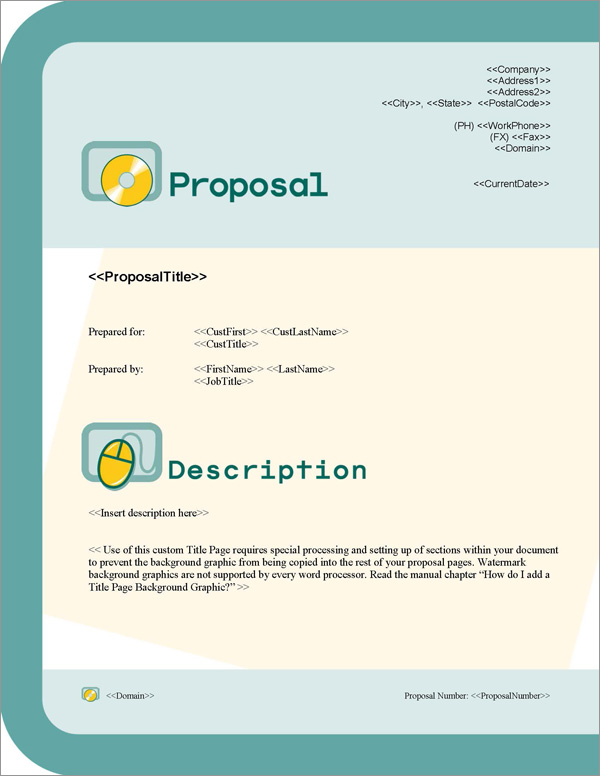 Proposal Pack Computers #1 Title Page