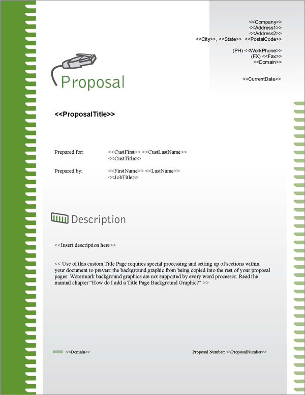 Proposal Pack Computers #2 Title Page