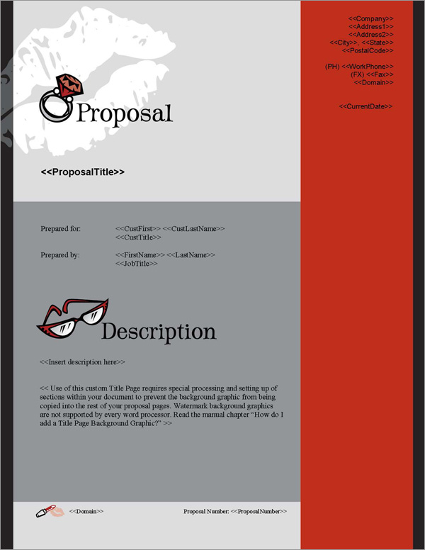 Proposal Pack Fashion #1 Title Page