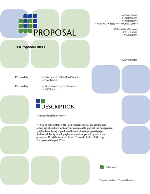 Proposal Pack Classic #6 Title Page