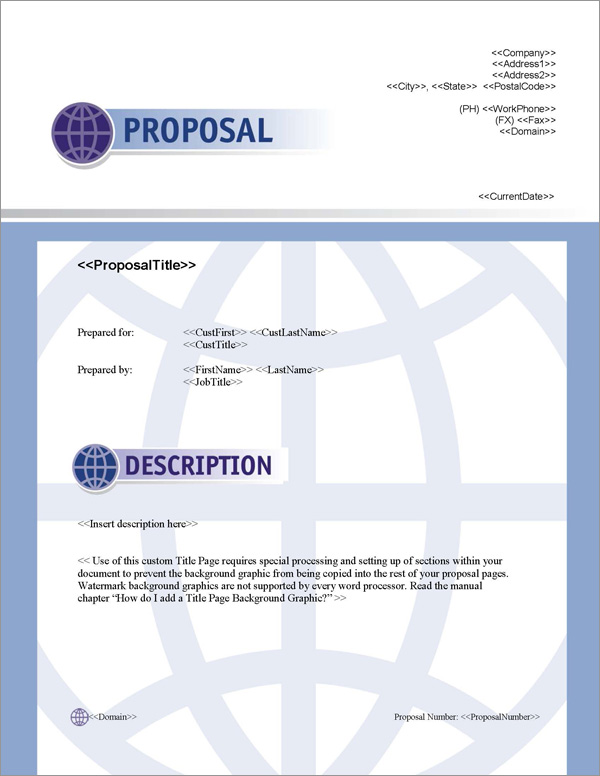 Proposal Pack Global #2 Title Page