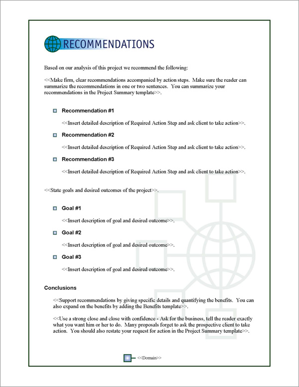 Proposal Pack Global #3 Recommendations Page