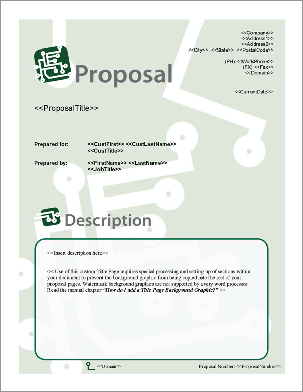 Proposal Pack Computers #3 Title Page