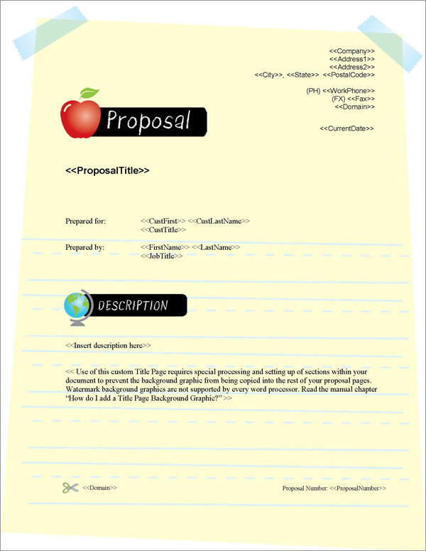 Proposal Pack Education #2 Title Page