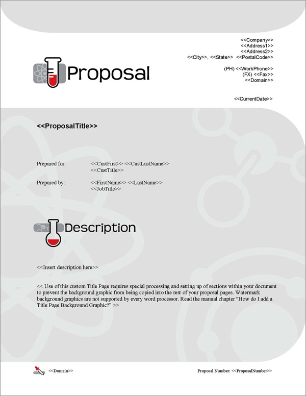 Proposal Pack Science #1 Title Page