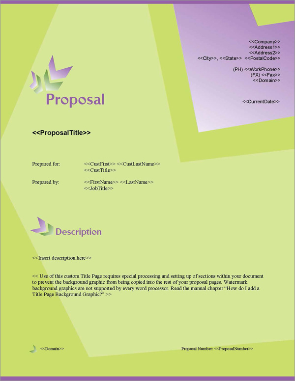 Proposal Pack In Motion #5 Title Page