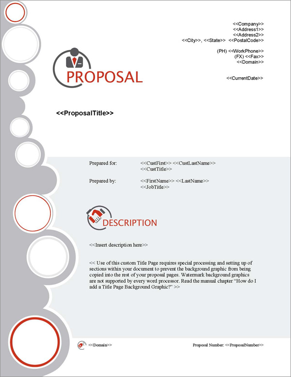 Proposal Pack Business #13 Title Page