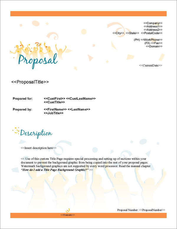 Proposal Pack Events #2 Title Page
