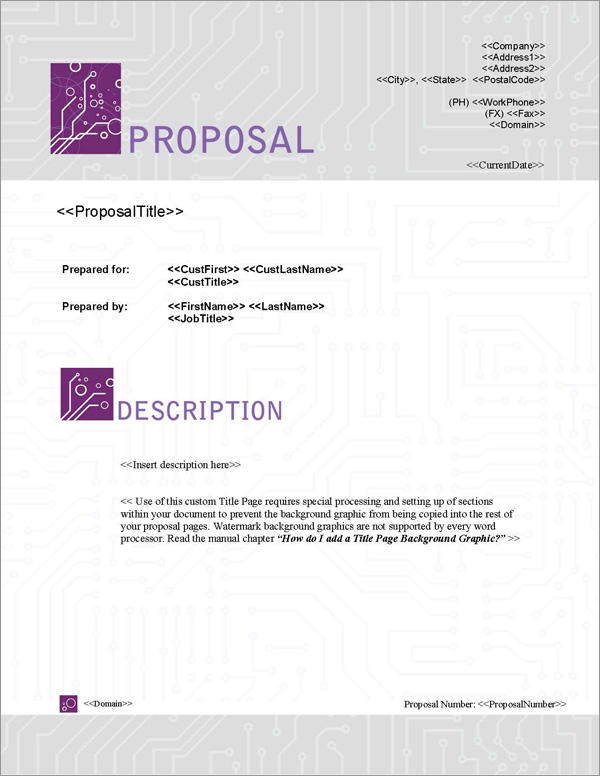 Proposal Pack Tech #5 Title Page