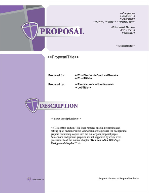 Proposal Pack Security #3 Title Page