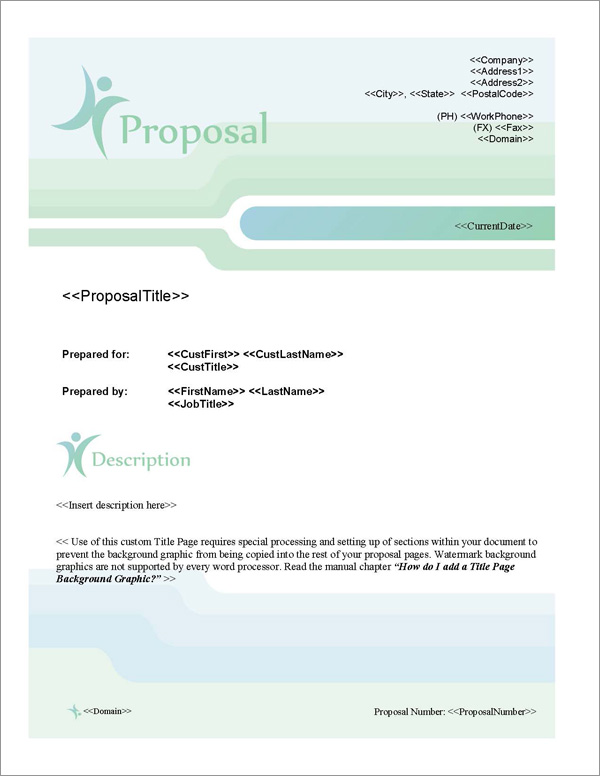 Proposal Pack People #2 Title Page