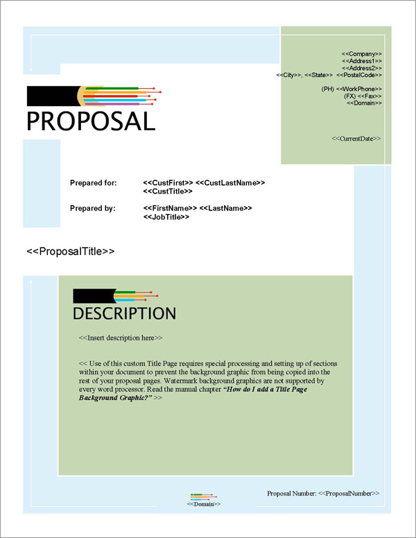 Proposal Pack Networks #1 Title Page