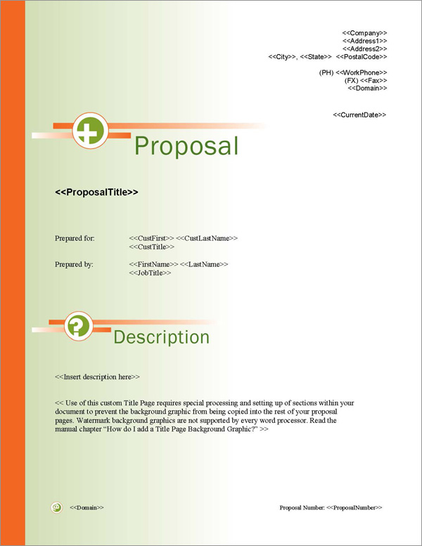Proposal Pack Symbols #3 Title Page