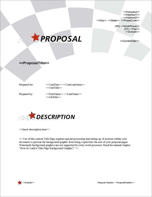 Proposal Pack In Motion #6 Title Page