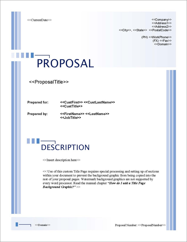 Proposal Pack Classic #10 Title Page
