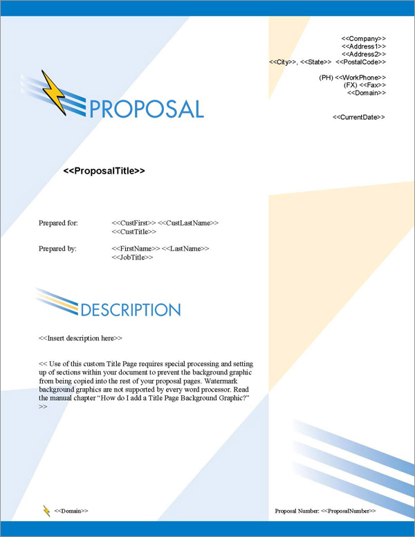 Proposal Pack Contemporary #8 Title Page
