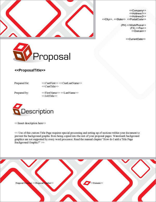 Proposal Pack Contemporary #9 Title Page