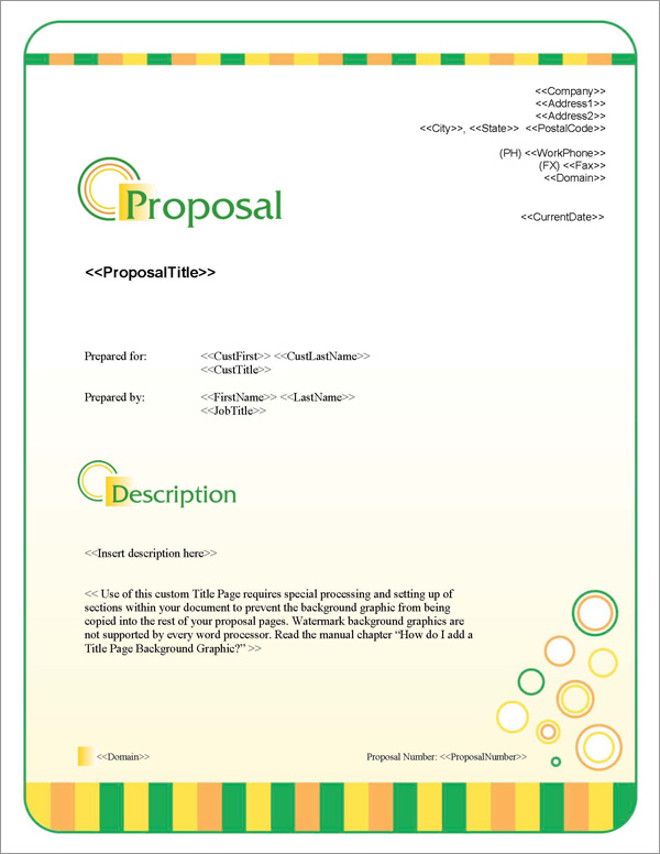 Proposal Pack Business #14 Title Page