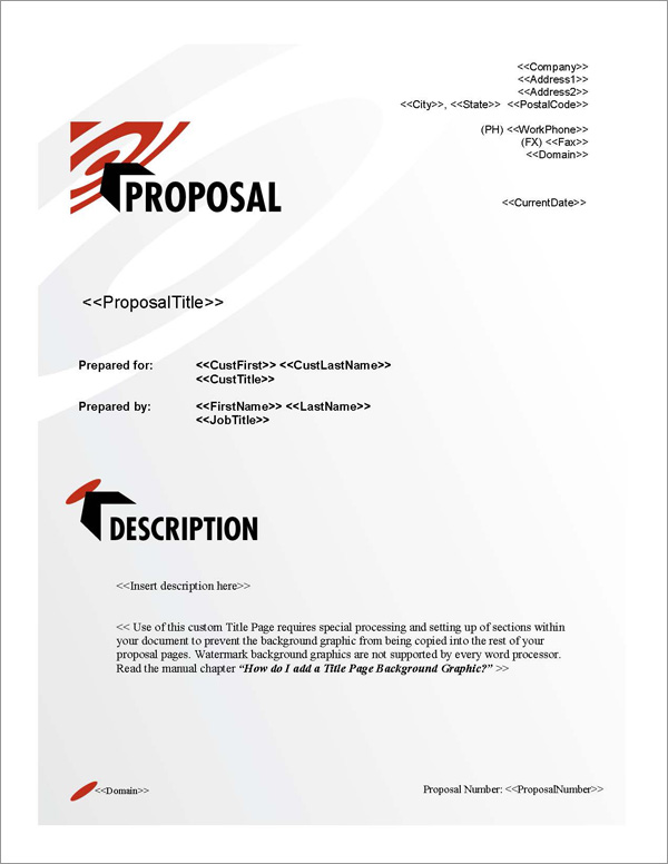 Proposal Pack Bullseye #1 Title Page