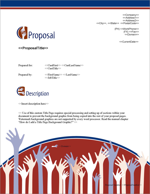 Proposal Pack People #3 Title Page