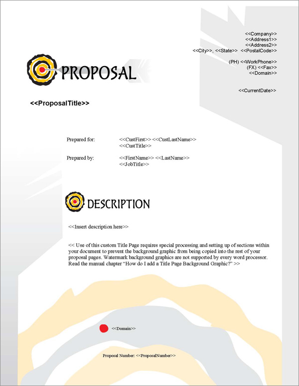 Proposal Pack Bullseye #2 Title Page