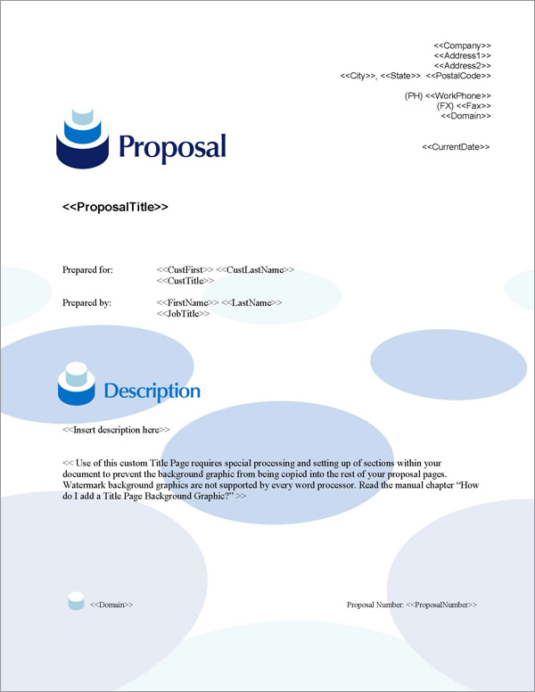 Proposal Pack Contemporary #11 Title Page