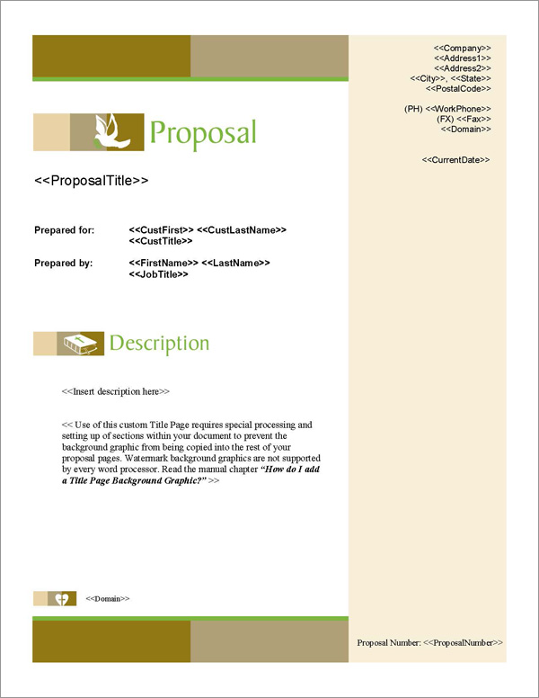 Proposal Pack Spiritual #1 Title Page