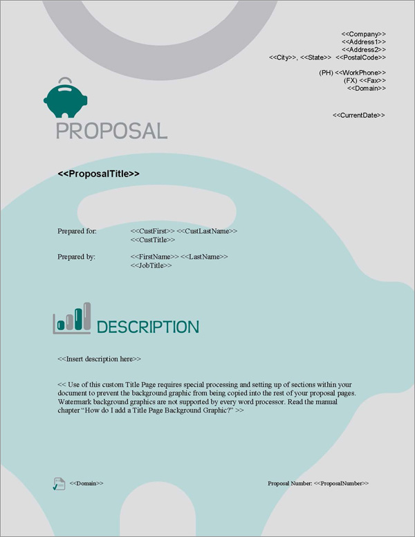 Proposal Pack Financial #3 Title Page