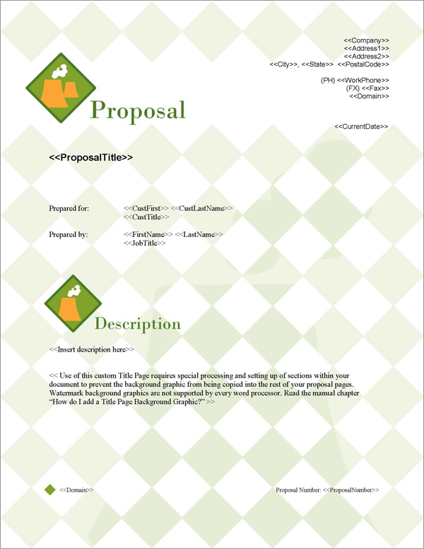 Proposal Pack Energy #3 Title Page