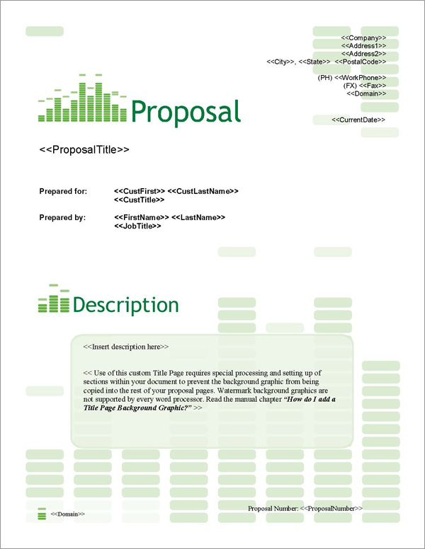 Proposal Pack Entertainment 6 Title Page