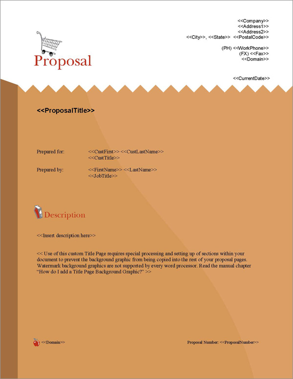 Proposal Pack Food #2 Title Page