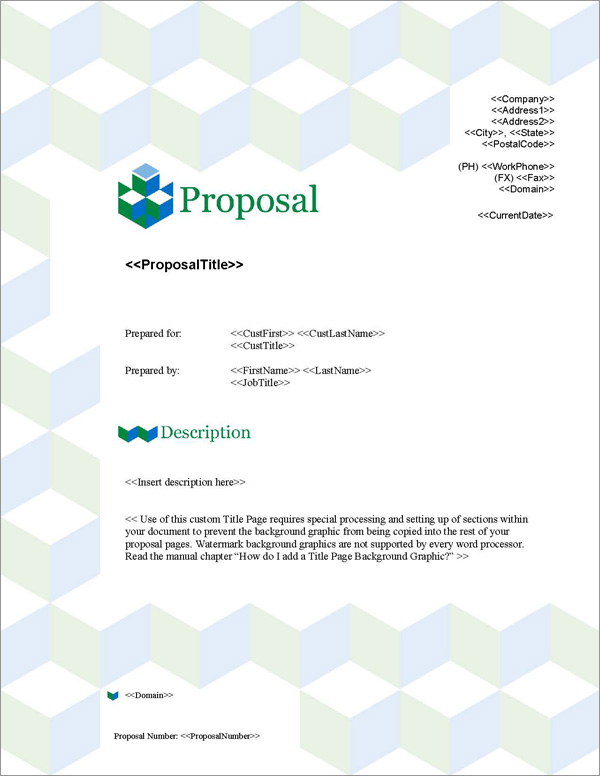 Proposal Pack Contemporary #12 Title Page