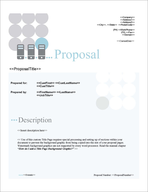 Proposal Pack Networks #2 Title Page