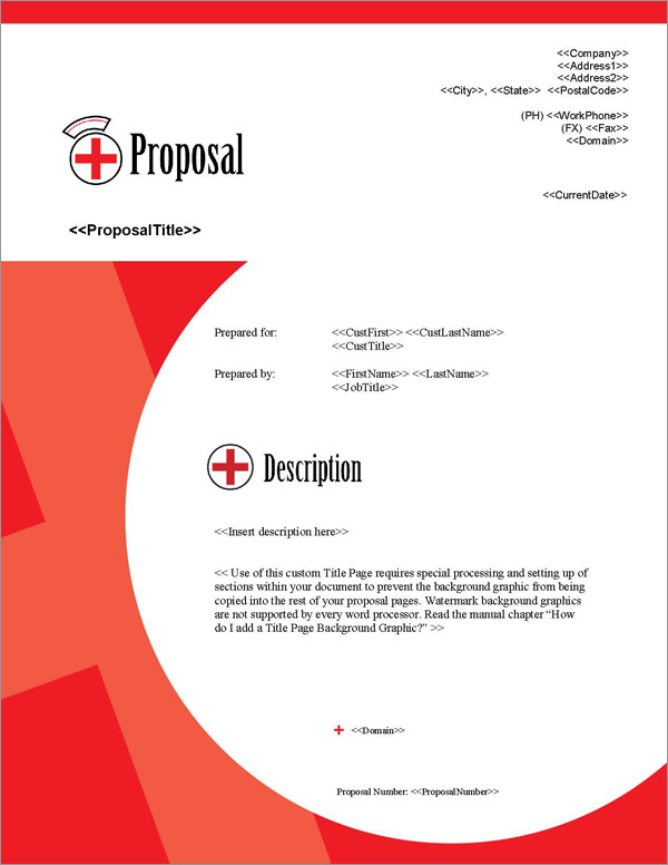 Proposal Pack Healthcare #2 Title Page
